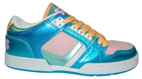 Boty Osiris NYC 83 LOW 10 W.blue/pink/white