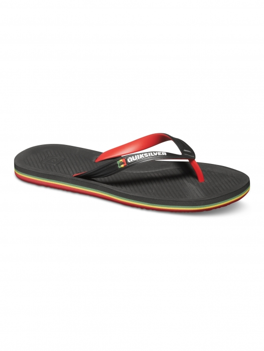 Žabky Quiksilver Haleiwa Deluxe 067 xkrg black/red/green 2015
