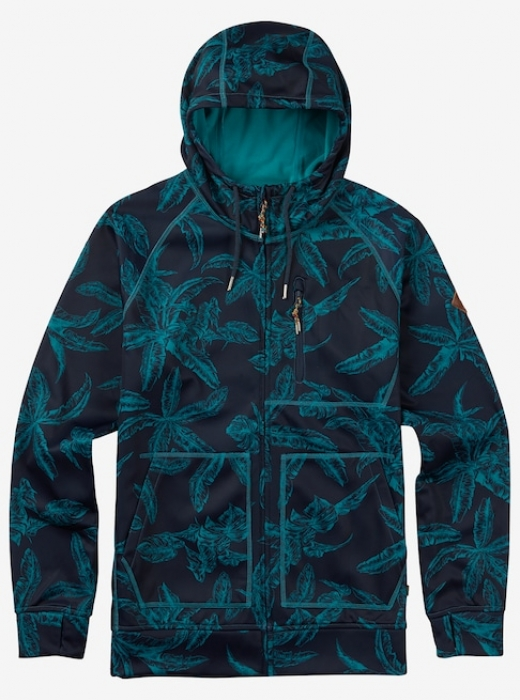Mikina Burton Bonded Full-Zip eclipse tropical 2017