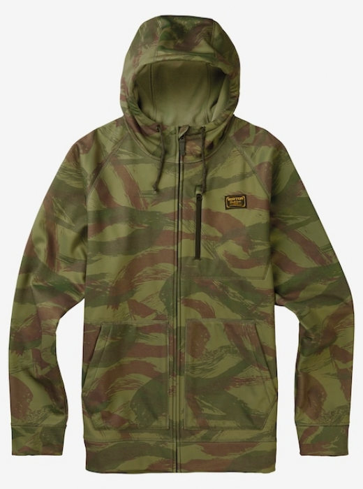 Mikina Burton Bonded Full-Zip brush camo 2017/18