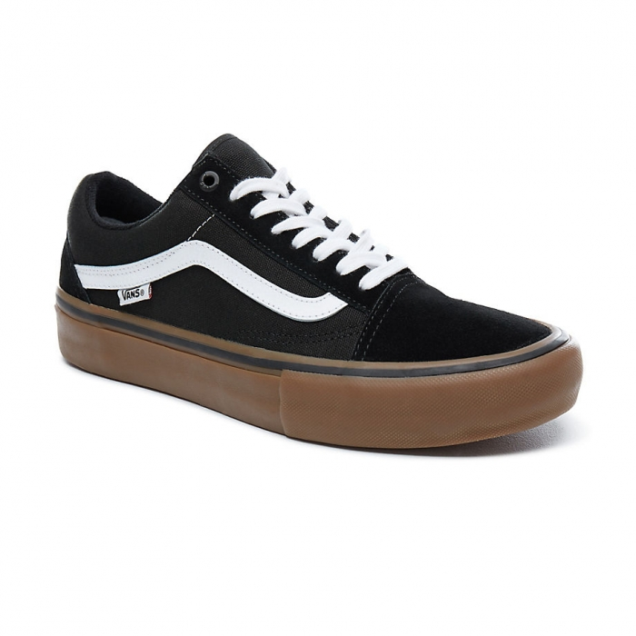 Boty Vans Old Skool Pro black/white/medium gum 2018