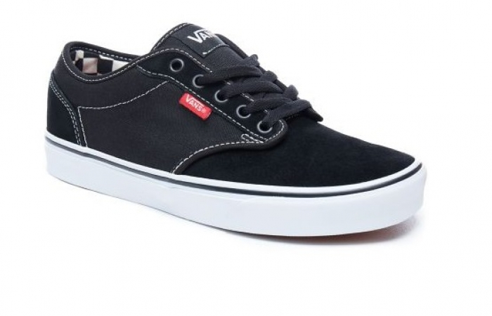 5d54d7a249f Boty Vans Atwood (Check Liner) black true white 2017