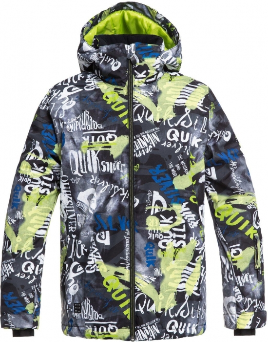 Bunda Quiksilver Mission 079 kvj5 lime green/money time 2018/19 dětská