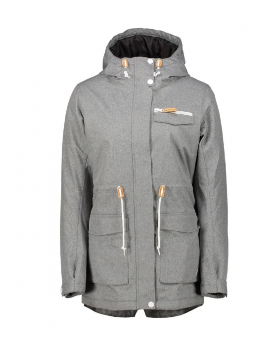 Bunda Colour Wear State Parka grey melange 2018/19 dámská