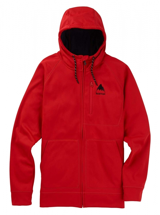 Mikina Burton Crown Bonded Full-Zip aura/red 2019