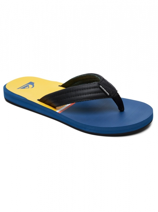 Žabky Quiksilver Carver blue/black/yellow 2019