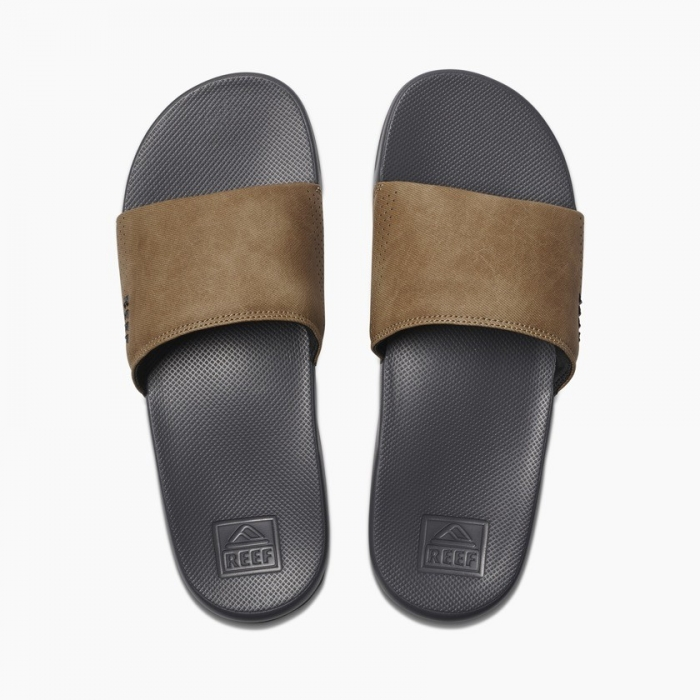 Pantofle Reef One Slide grey/tan 2019