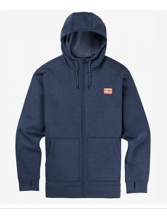 Mikina Burton Oak Full-Zip mood indigo heather 2019