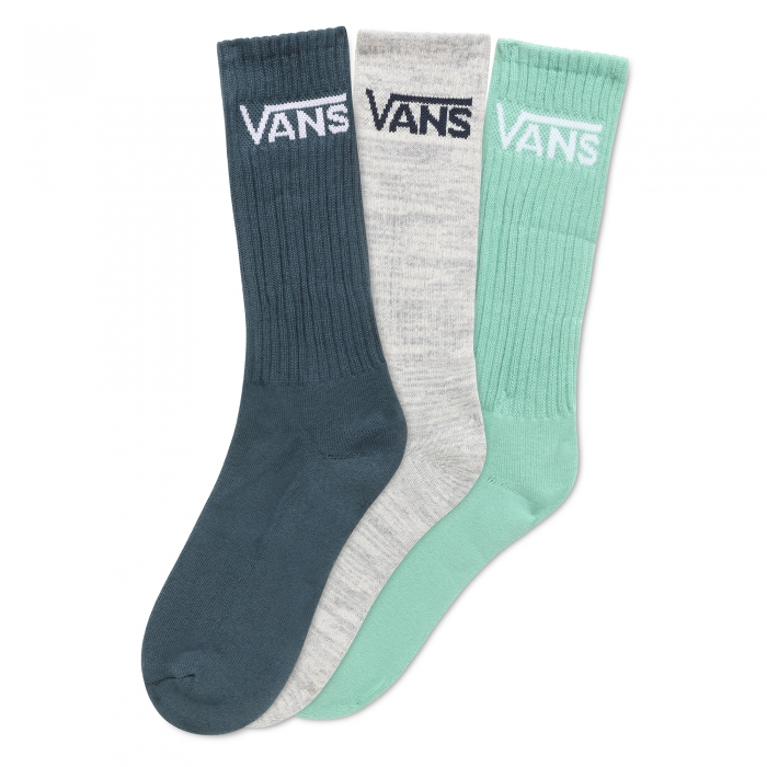 Ponožky Vans Classic Crew 3pack dusty jade green 2020