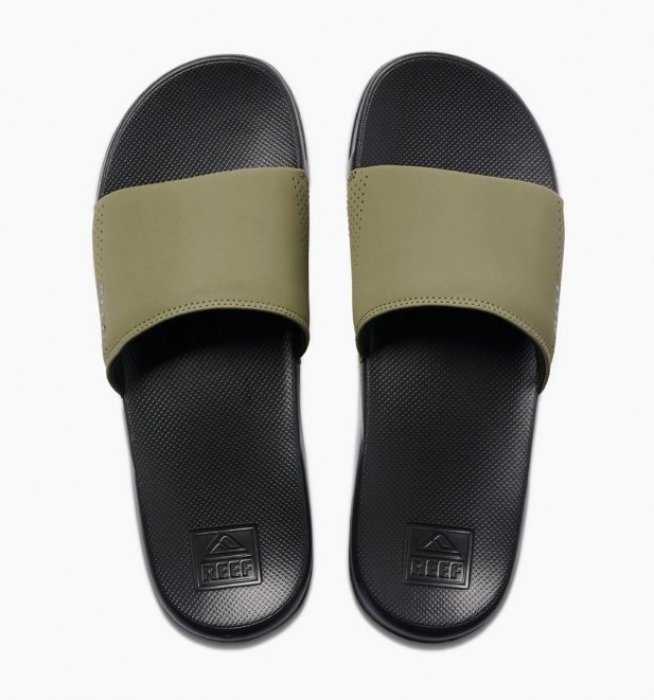 Pantofle Reef One Slide black/olive 2020
