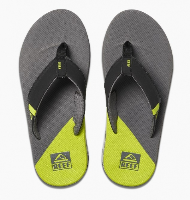 Žabky Reef Fanning Low grey/lime 2020