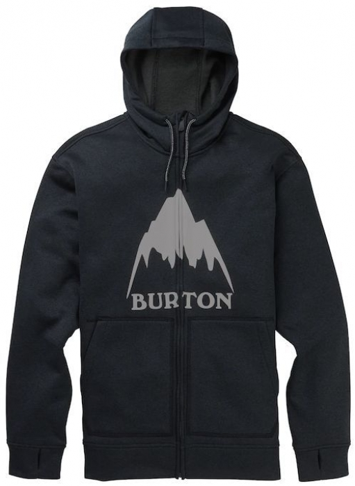 Mikina Burton Oak Full-Zip true black heather 2020