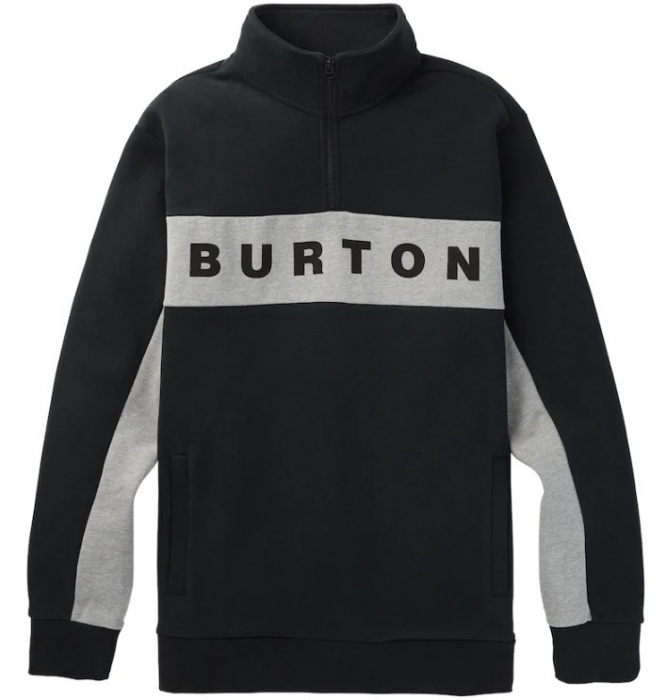 Mikina Burton Lowball 1/4 Zip Fleece true black 2020