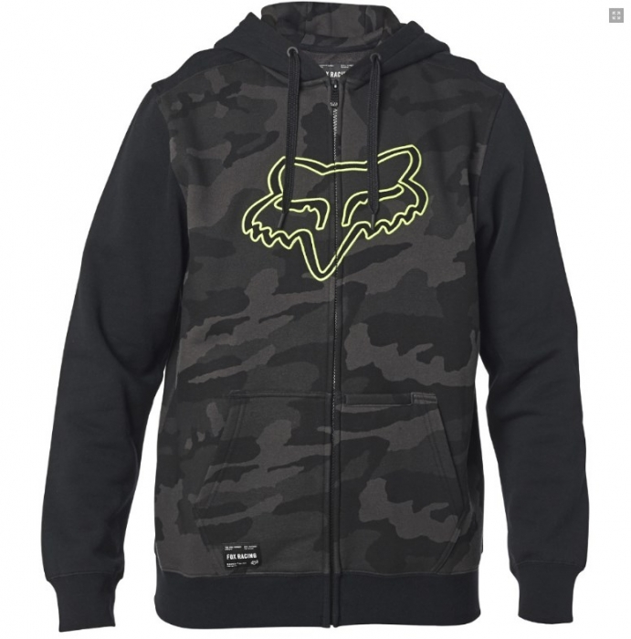 Mikina Fox Destrakt Camo Zip Fleece black camor 2020/21