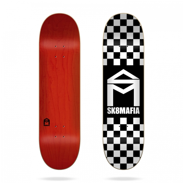 Skate deska Sk8Mafia House Logo Checker Black 8.0 2020