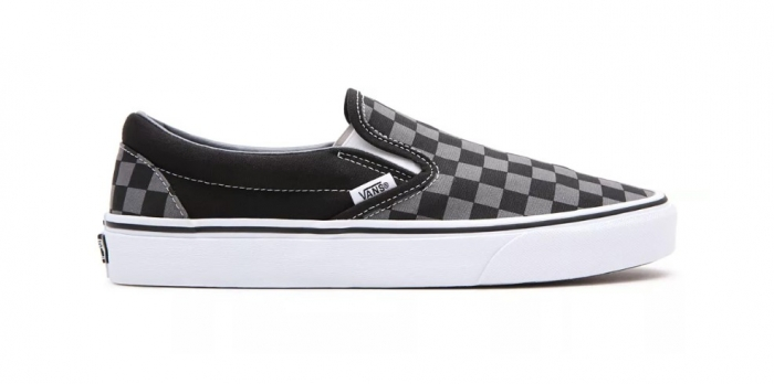 Boty Vans Classic Slip-On black/pewter checkerboard 2021